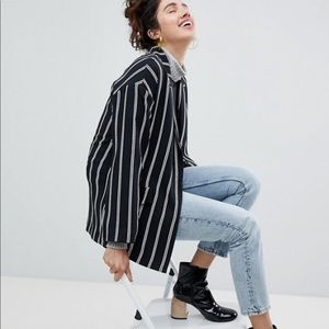 Asos Monki OVERSIZED Striped Blazer
